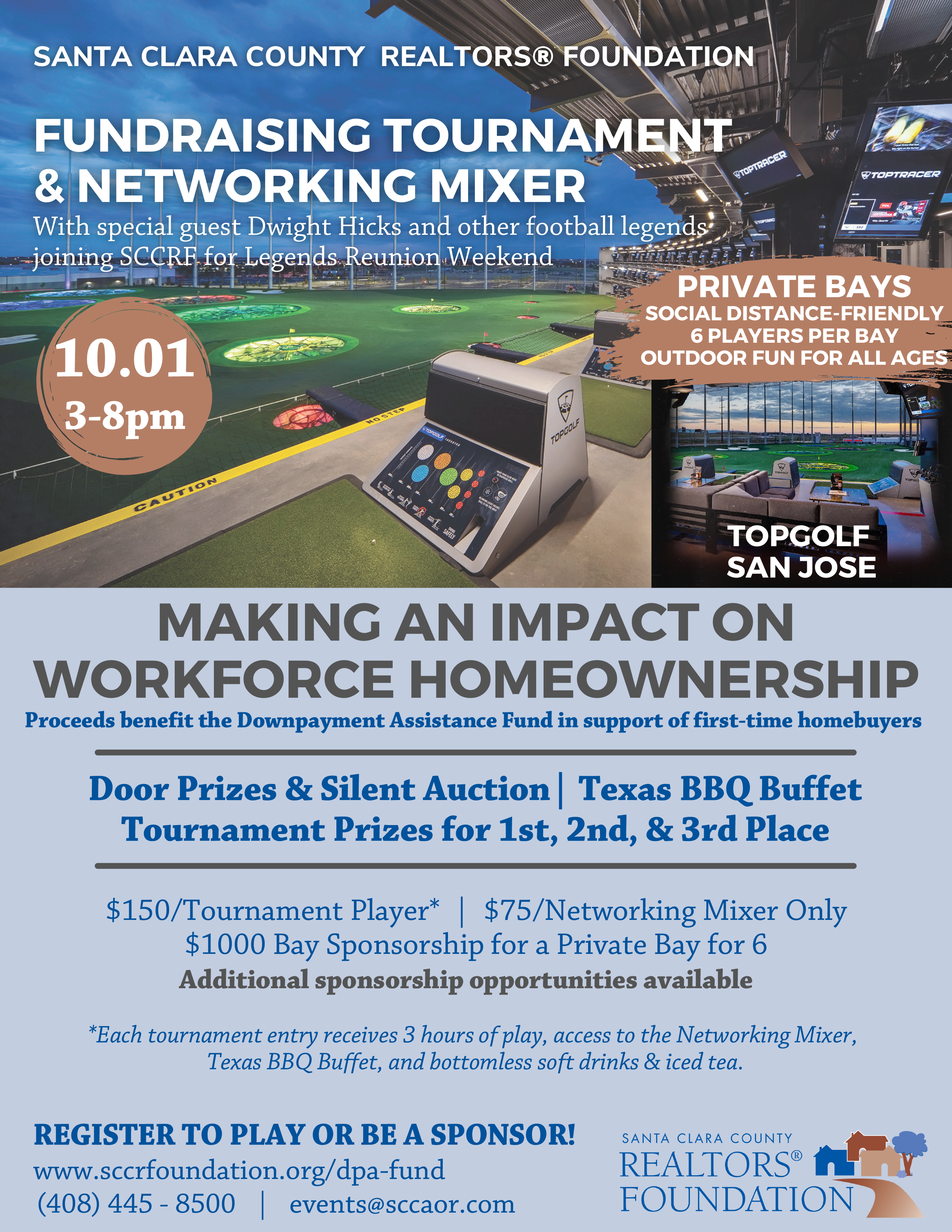 2021.10 SCCRF DPA Fundraisers – Tournament and Mixer Flyer